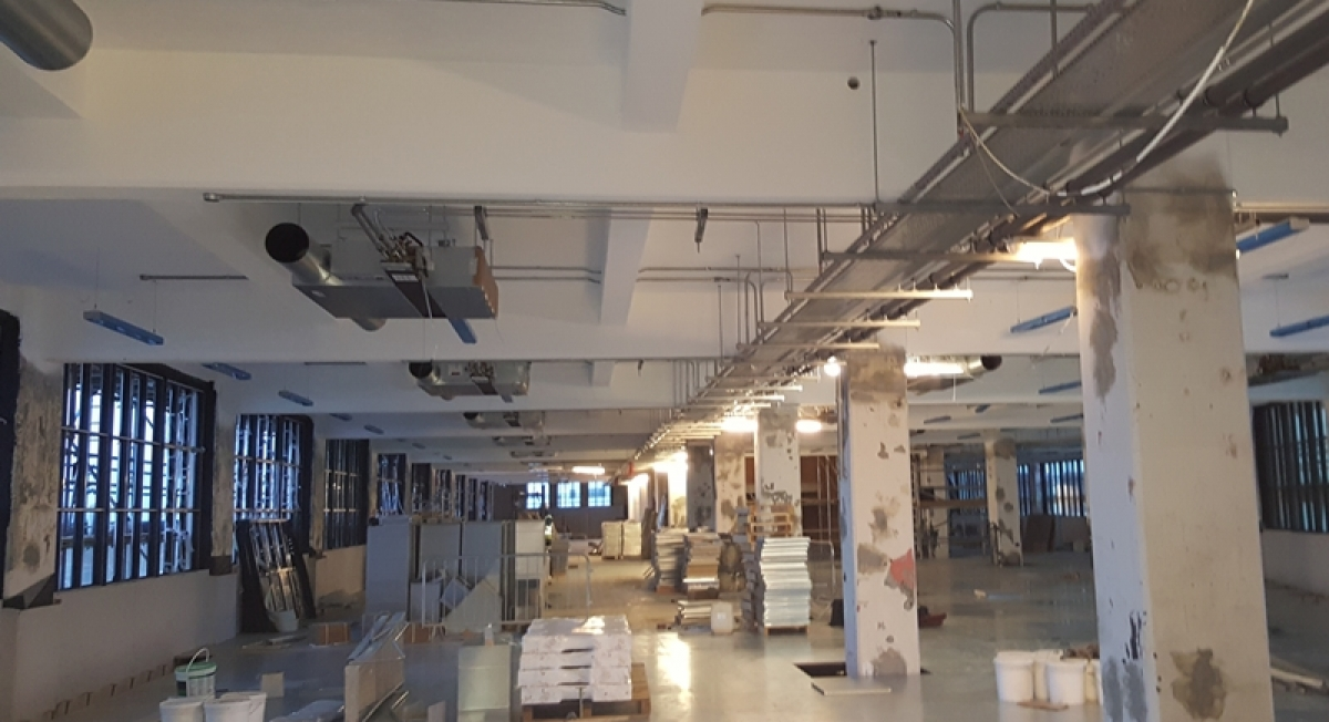 M Amp E Fit Out The Old Vinyl Factory Hayes Aes