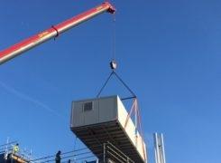 Roof Plant Arrives at Brunel