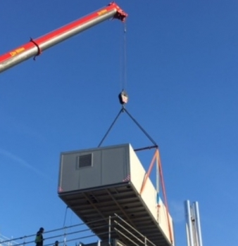 Roof Plant Arrives at Brunel